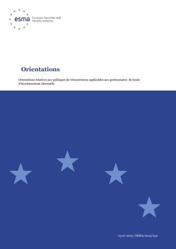 Orientations - Esma - Europa