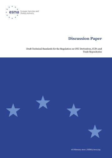 Discussion Paper - Esma - Europa
