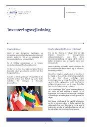 Investeringsvejledning - Esma - Europa