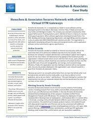 Henschen & Associates Case Study - eSoft, Inc.