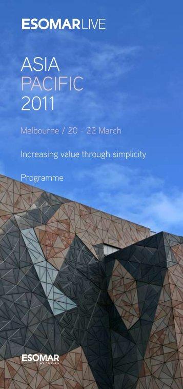 ASIA PACIFIC 2011 - ESOMAR