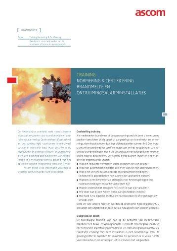 training normering & CertifiCering brandmeld- en - Ascom