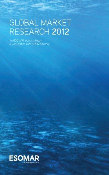 GLOBAL MARKET RESEARCH 2012 - Esomar