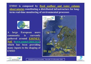EMSO EMSO is composed by fixed seafloor and ... - ESONET NoE