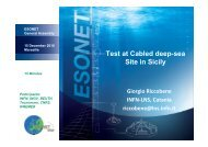 Test at Cabled deep-sea Site in Sicily - ESONET NoE