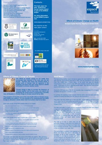 Topic Paper - Effects of Climate Change on Health - Espace