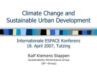 Climate Change and Sustainable Urban Development - Espace
