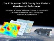 The 4th Release of GOCE Gravity Field Models - Technische ...