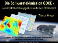 GOCE - Earth Oriented Space Science and Technology