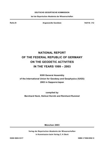 national report of the federal republic of germany on the geodetic ...