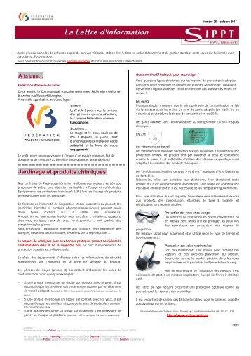 La Lettre d'information du SIPPT - Fédération Wallonie-Bruxelles