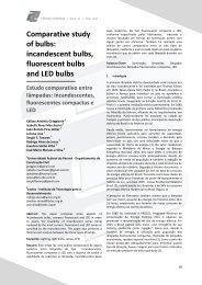 Estudo comparativo entre lâmpadas - Espaço Energia