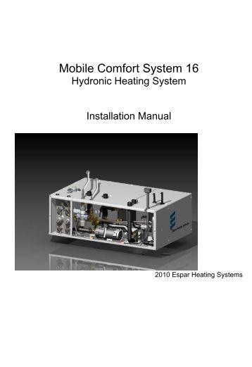 Hydronic Heating Espar Hydronic Heating System