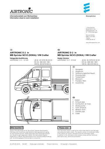 airtronic d 2 in mb sprinter ncv3 doka vw crafter. Black Bedroom Furniture Sets. Home Design Ideas