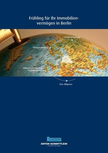 Frühling für Ihr Immobilien - Anton Schmittlein Construction Gmbh