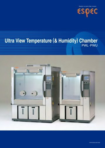 Ultra View Temperature (& Humidity) Chamber