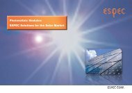 Photovoltaic Modules: ESPEC Solutions for the Solar Market