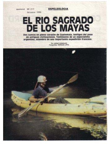 EL RIO SAGRADO DE LOS MAYAS