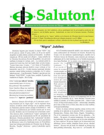 """""""Nigra"""" Jubileo - Esperanto Society of Chicago"""