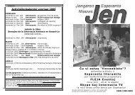 JONGE ESPERANTO NIEUWS - Nederlandse Esperanto-Jongeren