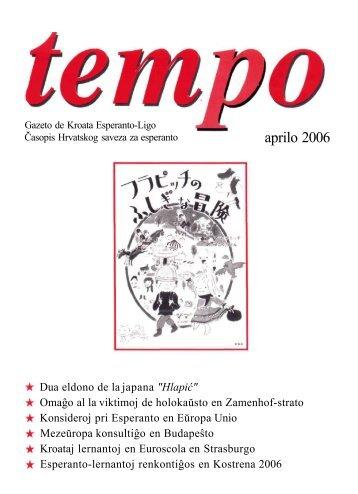 Tempo 1/2006 - Kroata Esperanto-Ligo