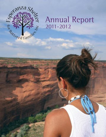 2011-2012 Annual Report - Esperanza Shelter for Battered Families ...