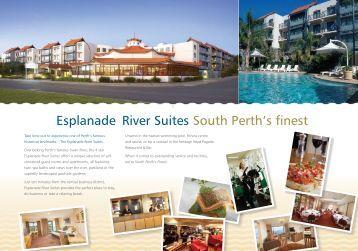 Hotel Brochure - Esplanade River Suites