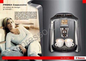 Manual prezentare Expresor Saeco Primea Cappuccino