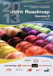 Joint Roadmap, Version 2 - ZDHC