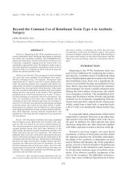 Beyond the Common Use of Botulinum Toxin Type A in ... - ESPRS