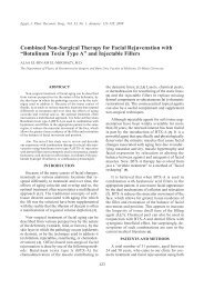 """""""Botulinum Toxin Type A"""" and Injectable Fillers - ESPRS"""