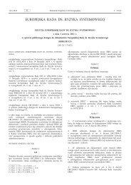 Decyzja Europejskiej Rady ds. Ryzyka Systemowego z ... - Europa