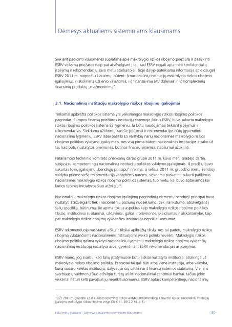 Metų ataskaita 2011 - Europa