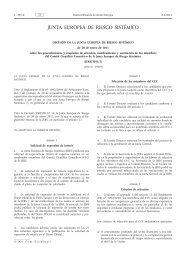 Decisión de la Junta Europea de Riesgo Sistémico, de 20 de enero ...