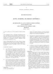 Recomendación de la Junta Europea de Riesgo Sistémico ... - Europa