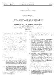 Recomendación de la Junta Europea de Riesgo Sistémico, de 22 ...