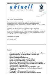 Gesamtkonzept für das Evangelische Schulwesen in Bayern