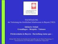 FACHTAGUNG der Vertretung des kirchlichen Schulwesens in Bayern