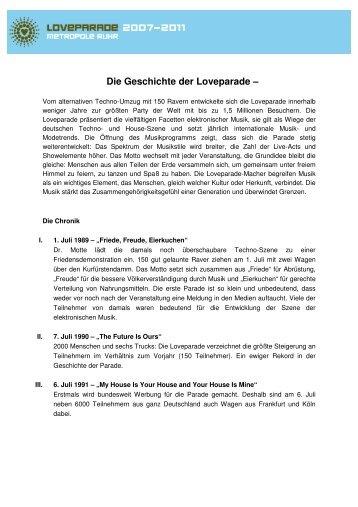 Die Geschichte der Loveparade - Ruhr 2010