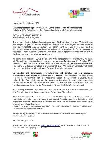 Einladung   Zur Teil - Ruhr 2010