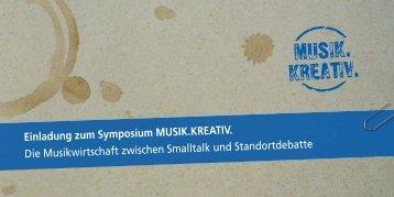 Einladung zum Symposium MUSIK.KREATIV. Die ... - Ruhr 2010
