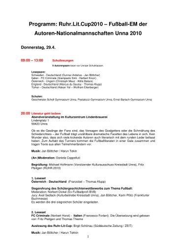 Detailprogramm - Ruhr 2010