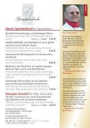 Unsere Spezialitäten/Our Specialities Ruhrpott ... - Essen geniessen