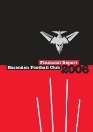 2006 Report - Essendon Football Club
