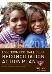 reconciliation action plan reconciliation action plan - Essendon ...