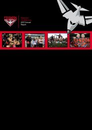 Essendon Football Club 2007 Annual Report