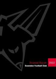 Financial Report 2002 - Essendon Football Club