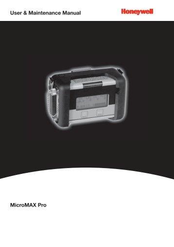 MicroMAX Pro User & Maintenance Manual - Honeywell Analytics