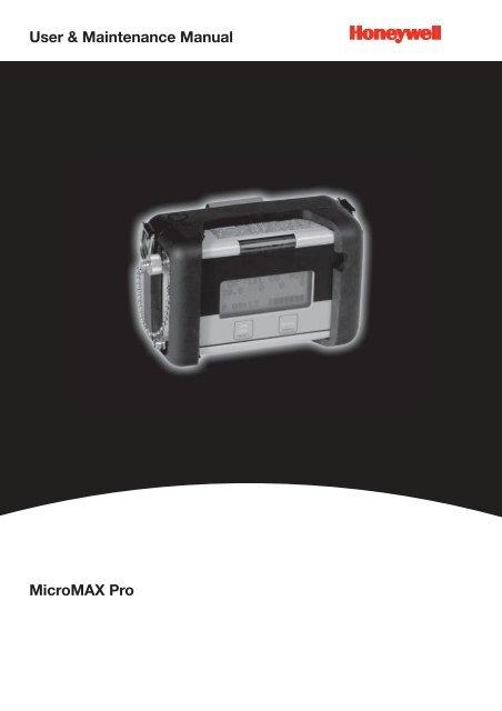 MicroMAX Pro User Maintenance Manual Honeywell Analytics
