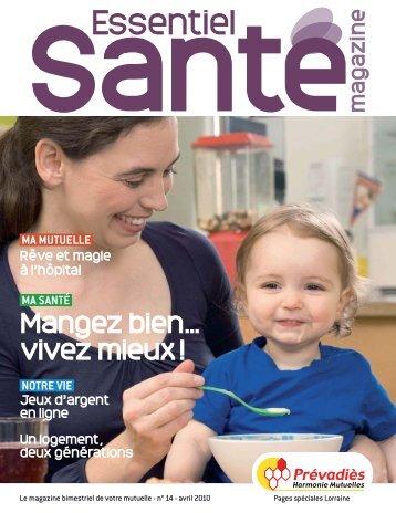 Prévadiès – Pages spéciales Lorraine - Essentiel Santé Magazine